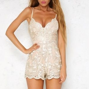Gold playsuit romper
